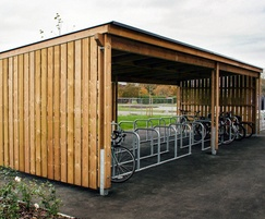 Sheldon Semi Enclosed Timber Cycle Shelter - SCS310
