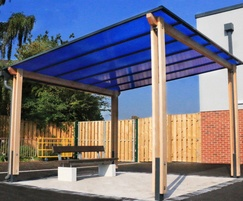 Sheldon timber coloured roof canopy - SPG332