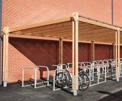 Sheldon Modular Timber Cycle Shelter - SCS302