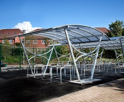 Malford Double Sided Steel Frame Cycle Shelter - MCS202