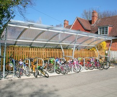 Malford modular steel frame cycle shelter unit - MCS201