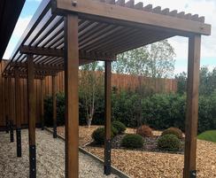 Bespoke timber pergola