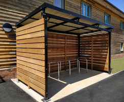 Cycle shelter and parking - St Wilfrid's Hospice