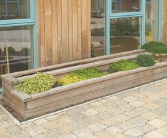 Timber planter - St Wilfrid's Hospice