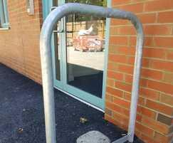 Door barrier, St Wilfrid's Hospice
