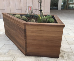 Timber planters are movable