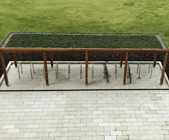 Cycle parking solution with sedum roof