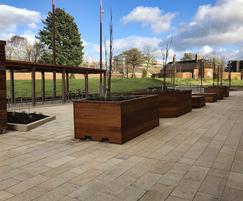 Timber outdoor furniture for University of Birmingham