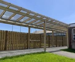 Bespoke covered walkway - Cornerstone Academy, Poole