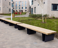 Timber benches - galvanised, powder-coated