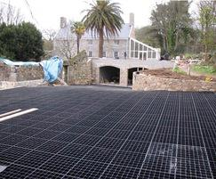 GF 40 installation - driveway - withstands frost and UV