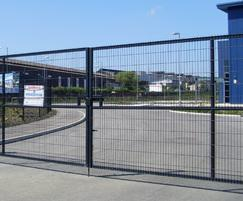 Welded mesh security gates