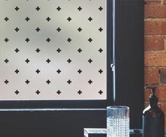 Crosses pattern window film