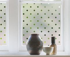 Polka dots patterned window film