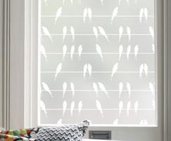 Swallows pattern window film