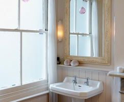 White frosted bathroom window film