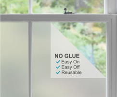 Static cling frosted window film