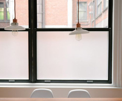 Opaque frosted office glass window film