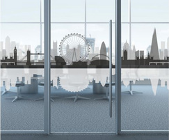 Office Skyline frosted glass window film