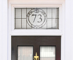 Frosted glass window film with house number