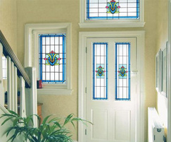 Sapphire - Art Deco style stained glass window film
