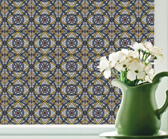 Yellow Genoa - Gothic style stained glass window film
