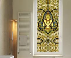 Thai Angel stained glass window film