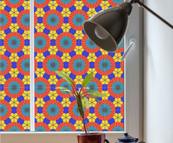 Arabesque stained glass effect window film