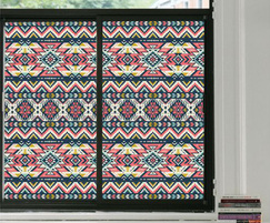 Aztec style stained glass effect window film