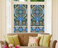 Flutterby designer stained glass effect window film