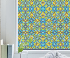 Lita - floral stained glass effect window film