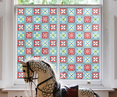 Rosa Patterned Victorian stained glass window film