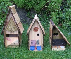 Quirky bird boxes made from recycled Gripsure decking