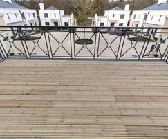 Large balcony fitted with Gripsure anti slip decking
