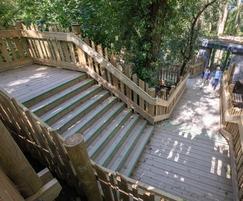 Custom Gripsure non-slip decking steps at Bear wood