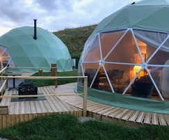Luxury domes use non-slip decking to keep visitors safe
