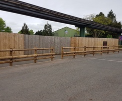Timber crash-rated barrier for Alton Towers resort