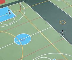 SPORTEC® UNI Classic EPDM rubber indoor sports flooring