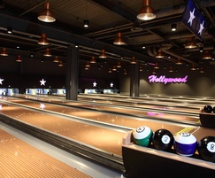TVS RESi Dry floating floor system for bowling alleys