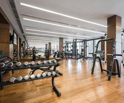 TVS RESi Dry floating floor system for gyms