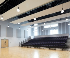 TVS ABSorb Sport acoustic panels - sports auditorium