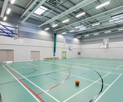 TVS ABSorb Sport acoustic panels - sports hall