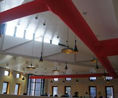 Prihoda fabric ducting at Queen Mary University London