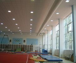 Prihoda fabric duct in a gymnasium