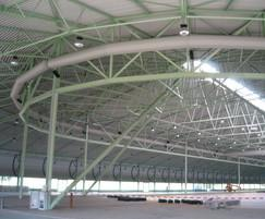Prihoda fabric ducting in an ice rink