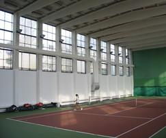 Prihoda tennis sports hall fabric ducting