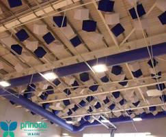 Whitmore School sports hall - Prihoda fabric ducting