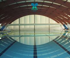 Aesthetic Swimming Pool with Prihoda Fabric Ducting