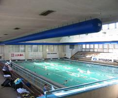 Large Swimming Pool Heating Fabric Ducting System