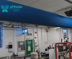 Production area fabric ducting from Prihoda